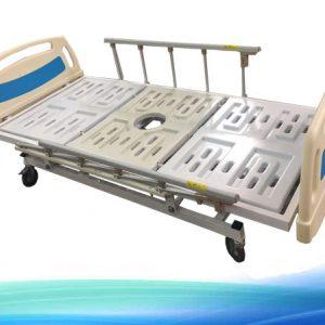 تخت بیمارستانی دوشکن لگن خور | تخت بیمار | تخت مریض | تخت لگن خور